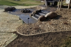 Steps, Firepit - Turf and Landscaping, Inc