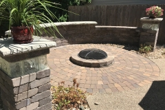 Seating Wall, Firepit, Patio - Turf and Landscaping, Inc