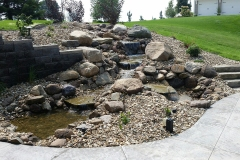 Water Feature, Retaining Wall - Turf and Landscaping, Inc
