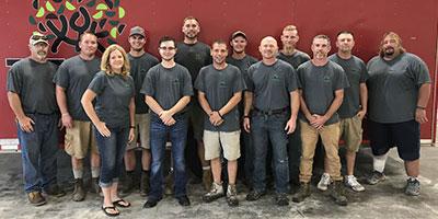 The Turf & Landscape team of custom landscape professionals